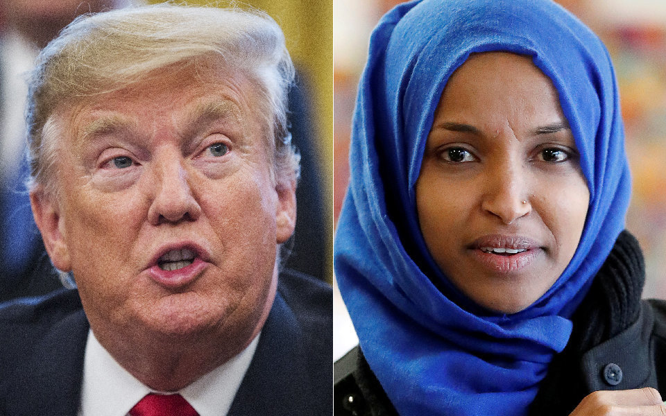 "President Donald Trump said Tuesday that Rep. Ilhan Omar's recent apology was ""lame."""