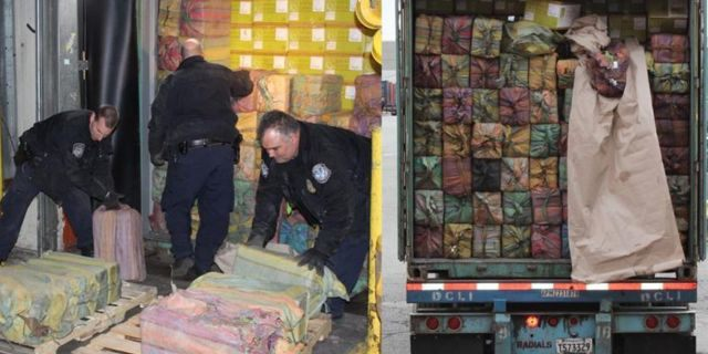 Roughly 3,200 pounds of cocaine was recovered at the Port of New York/Newark in February, officials said.