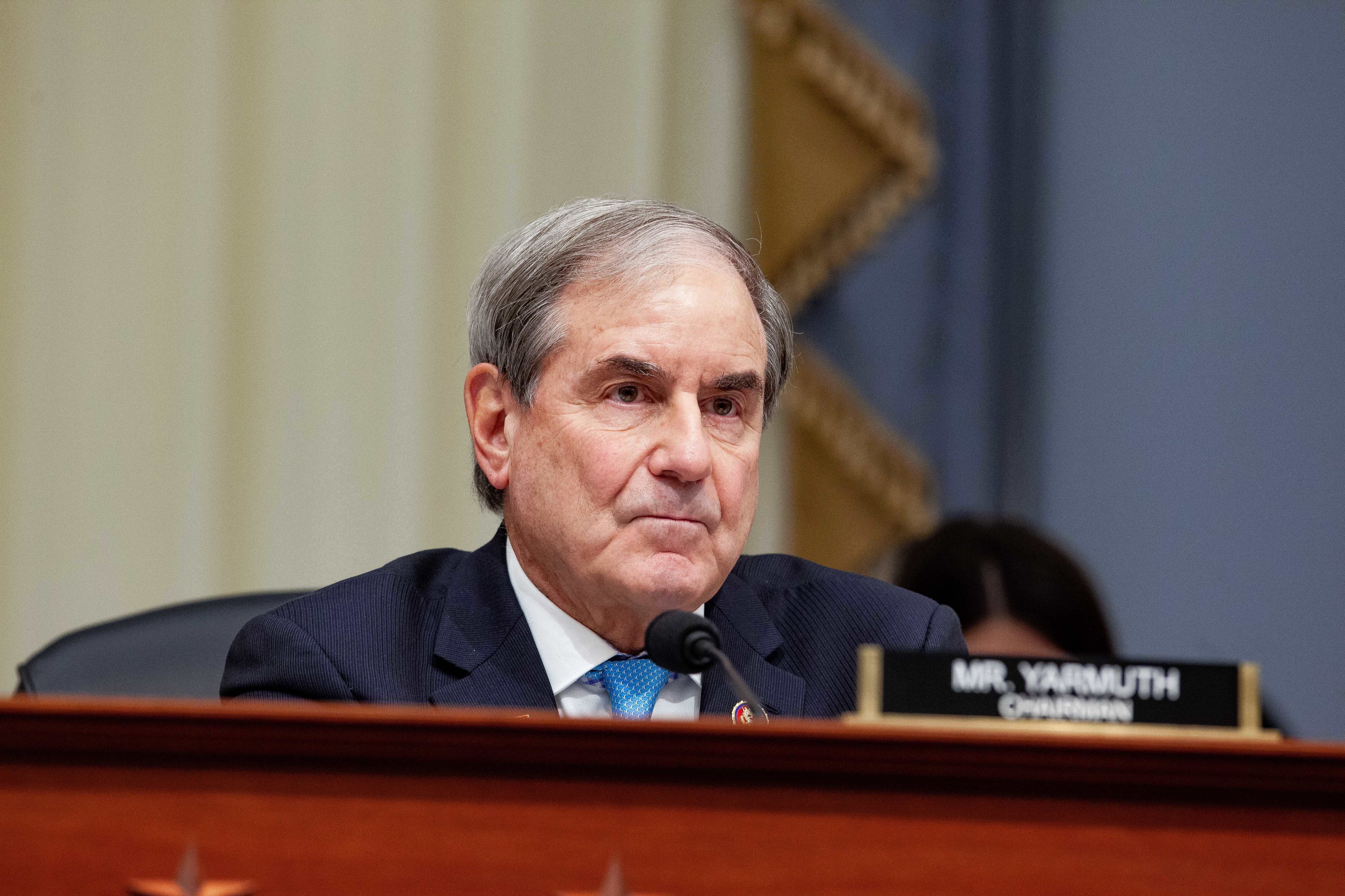 Rep. John Yarmuth (D-Ky.), chair of the House Budget Committee, listens during a Tuesday hearing with the acting director of