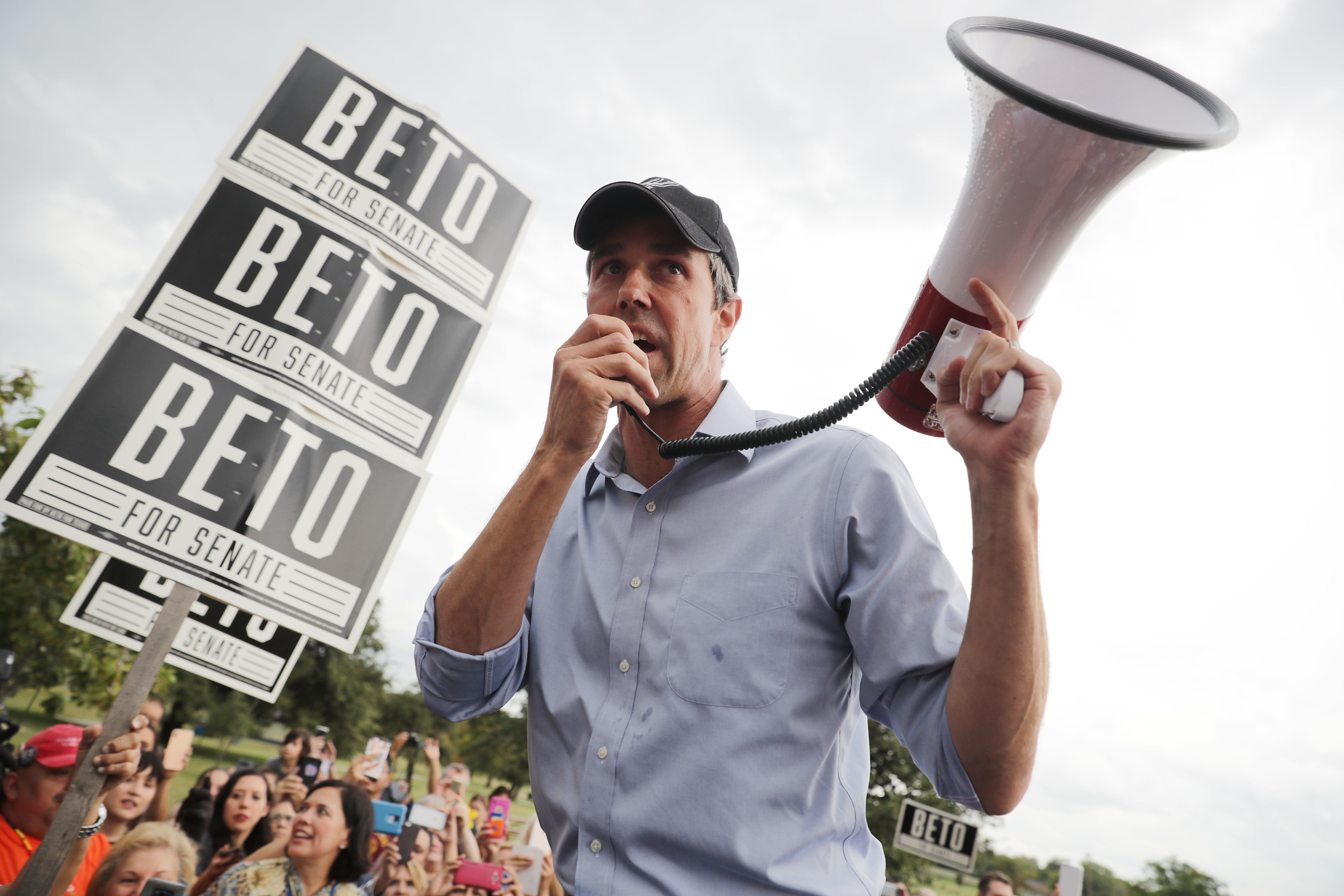 Former U.S. Rep. Beto O'Rourke on the campaign trail in 2018.