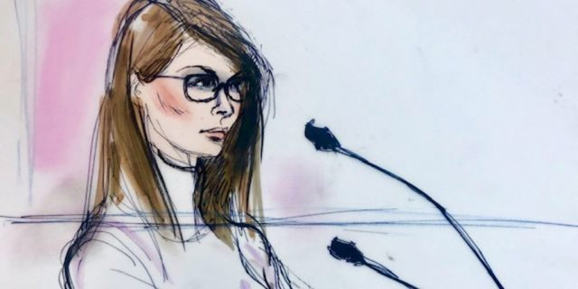 Actor Lori Loughlin appears in this court sketch at a hearing for a racketeering case involving the allegedly fraudulent admission of children to elite universities, at the U.S. federal courthouse in downtown Los Angeles, California, U.S., March 13, 2019. REUTERS/Mona Shafer Edwards NO RESALES. NO ARCHIVE. - RC1430C91200