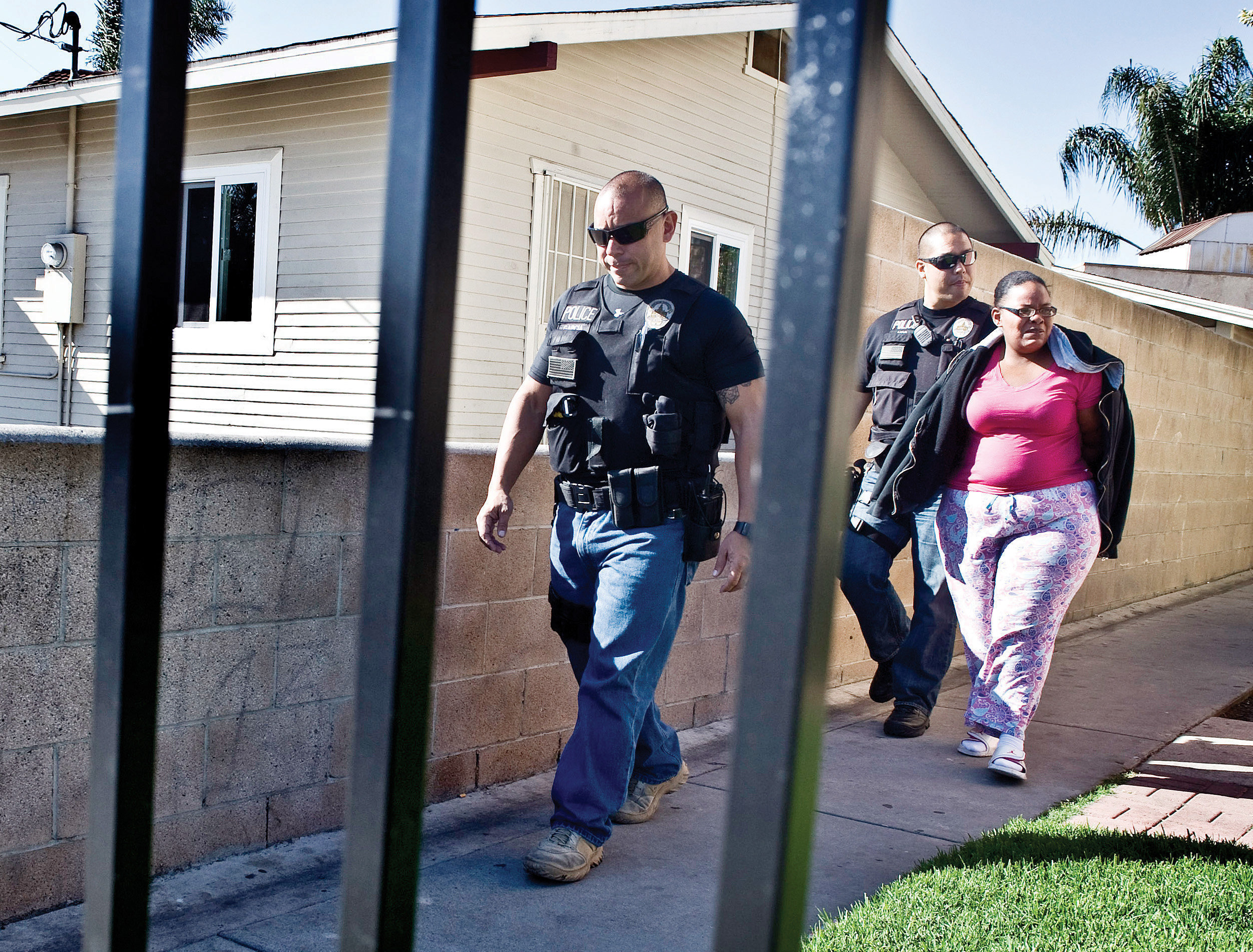 TOP PHOTO: Cheree Peoples outside of the apartment where she lives when her 17-year-old daughter, Shayla, is at Children's Ho