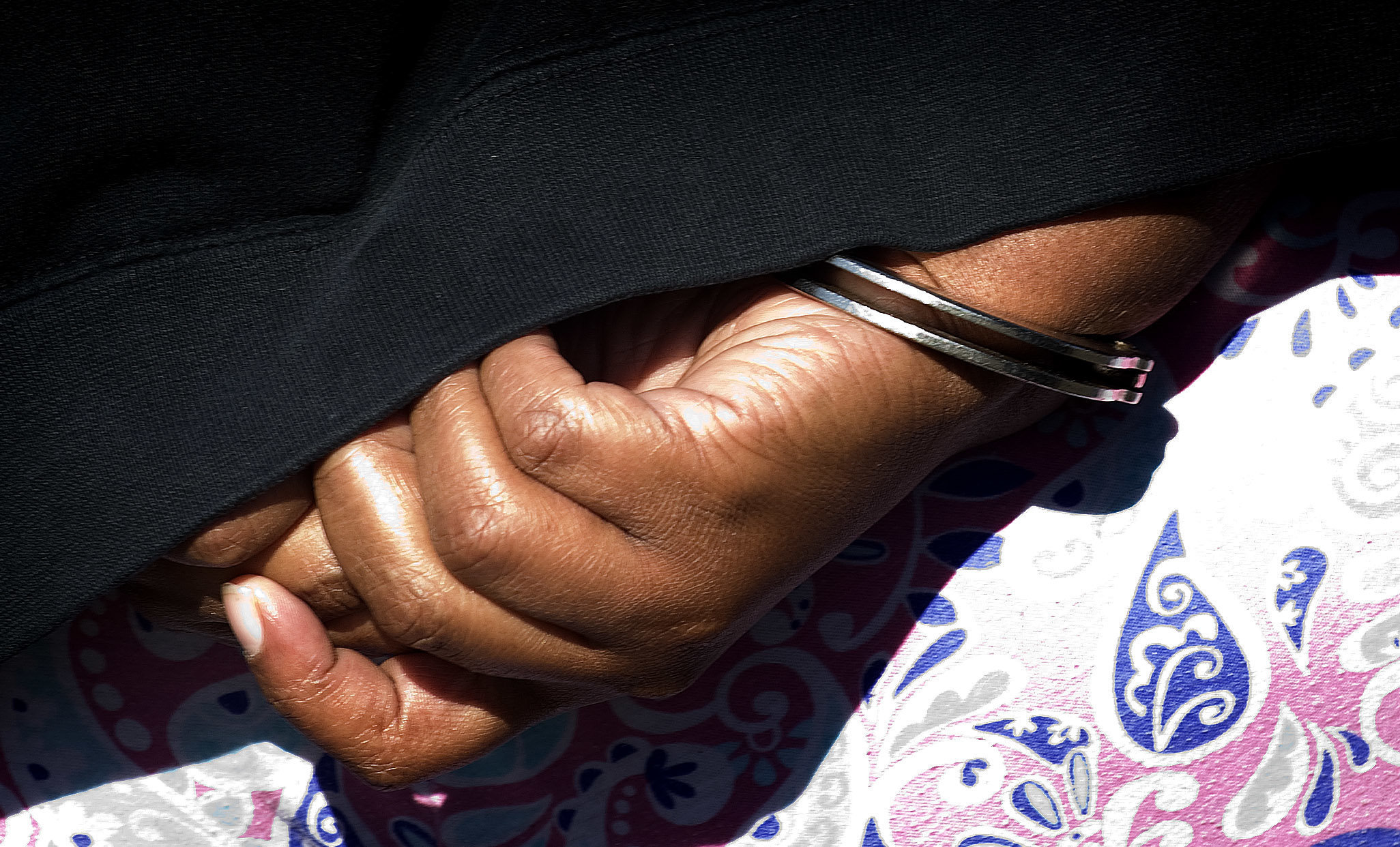 Peoples in handcuffs on April 18, 2013.