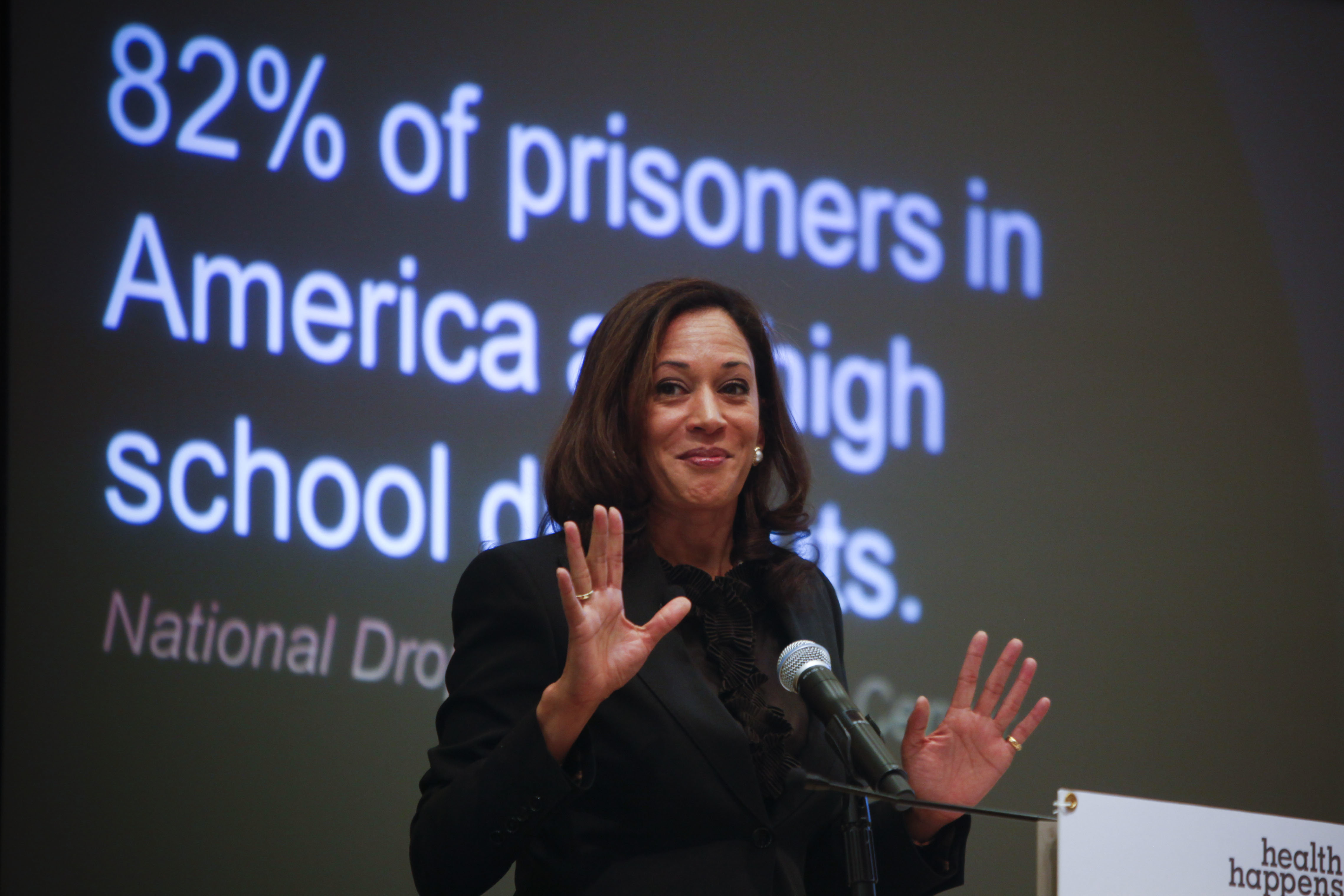 Then-California Attorney General Kamala Harris discusses the first statewide statistics on the elementary school truancy cris