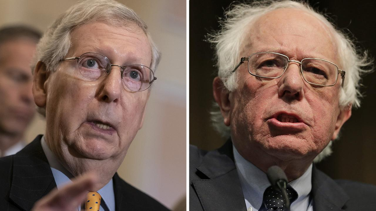 Senate Majority Leader Mitch McConnell slams Bernie Sanders 'Medicare-for-all' plan as a far-left social experiment