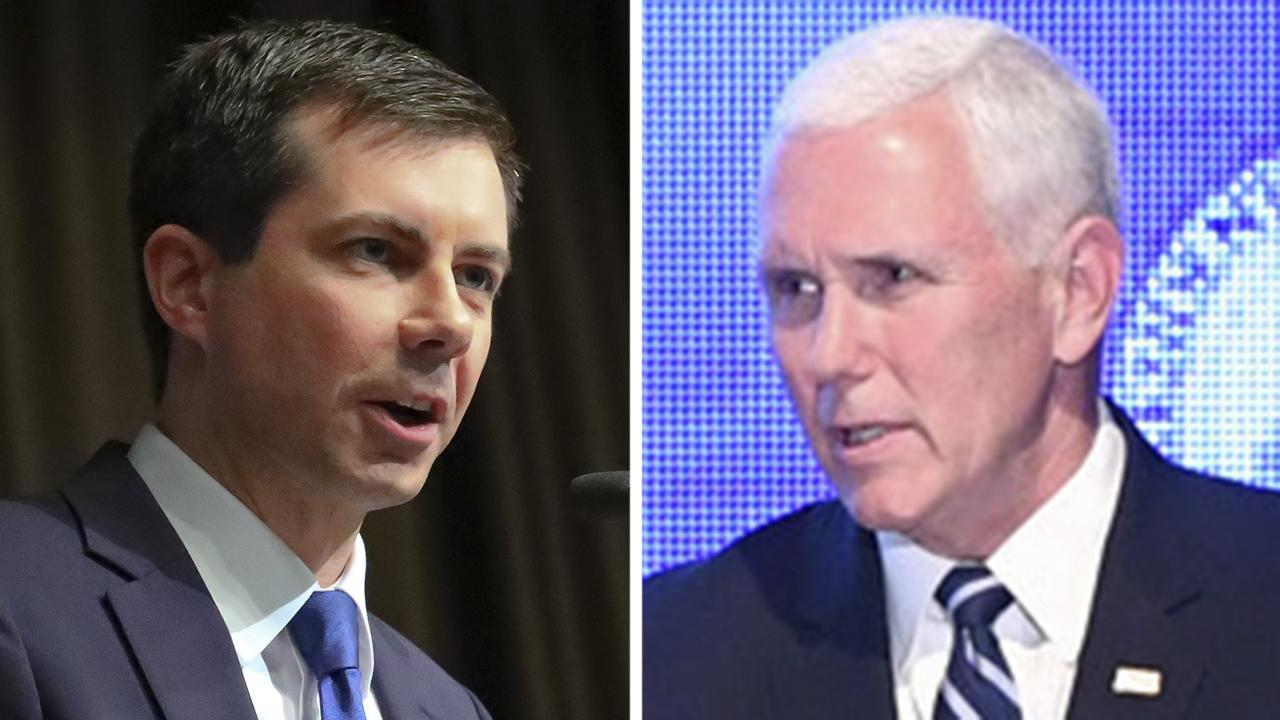 Pete Buttigieg and Mike Pence spar over religion