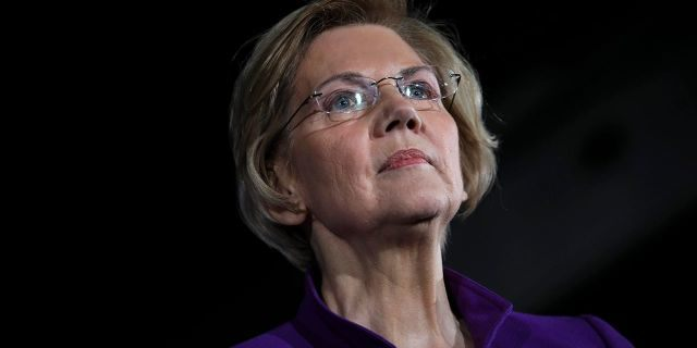 Sen. Elizabeth Warren (D-MA), one of several Democrats running for the party's nomination in the 2020 presidential race, speaks during a campaign event. (Photo by Drew Angerer/Getty Images)