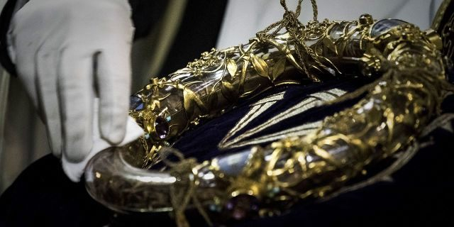 Jean-Marc Fournier, chaplain of the Paris Fire Brigade who also played a key role in supporting Parisians following the 2015 terror attack in Paris, saved the Blessed Sacrament and the Crown of Thorns (pictured) after he went in with the firefighters.