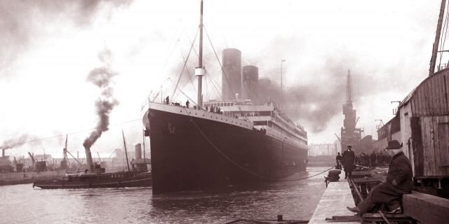 The Titanic leaving Southampton on April 10, 1912. (Photo by Universal History Archive/UIG via Getty Images)