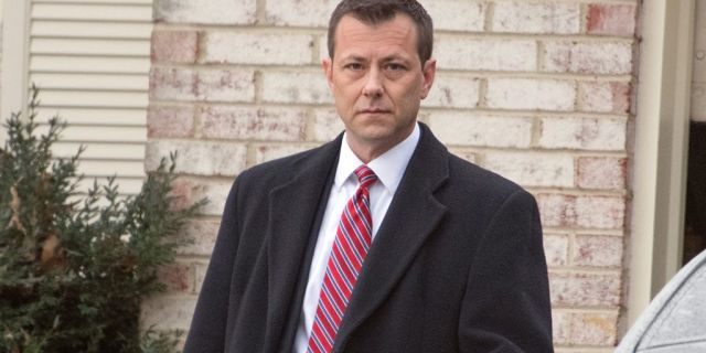 FBI Agent Peter Strzok, who exchanged 375 text messages with Department of Justice attorney Lisa Page that led to his removal from special counsel Robert Mueller's probe into ties between the Trump campaign and the Kremlin's efforts to interfere in the U.S. election last summer, photographed outside his home in Fairfax, Virginia, in January 2018.