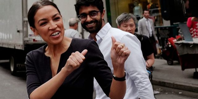Alexandria Ocasio-Cortez, along with Saikat Chakrabarti, her chief of staff, have both entered into the discussion around Bernie Sanders' suggestion that felons should be given voting rights.