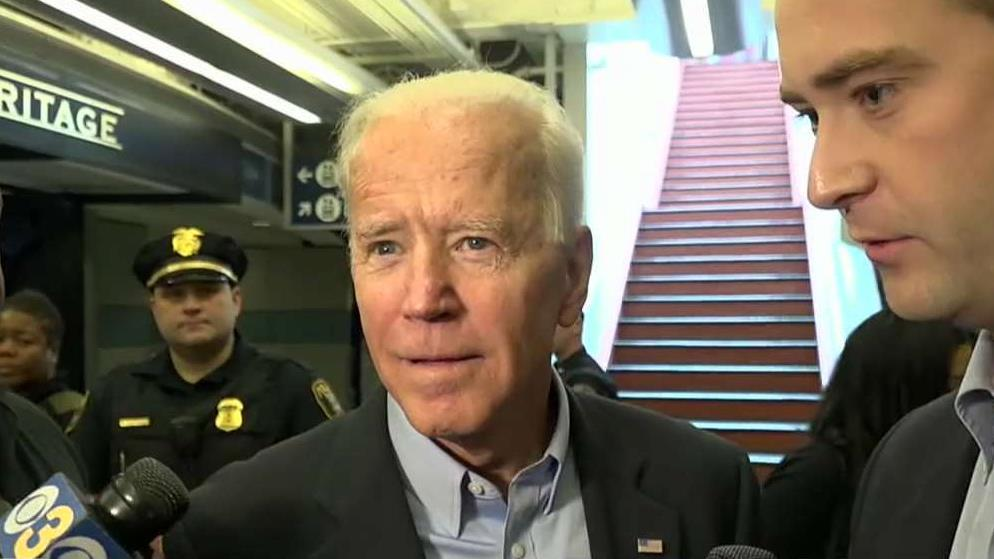 Joe Biden joins crowded 2020 Democratic field with an attack on Trump