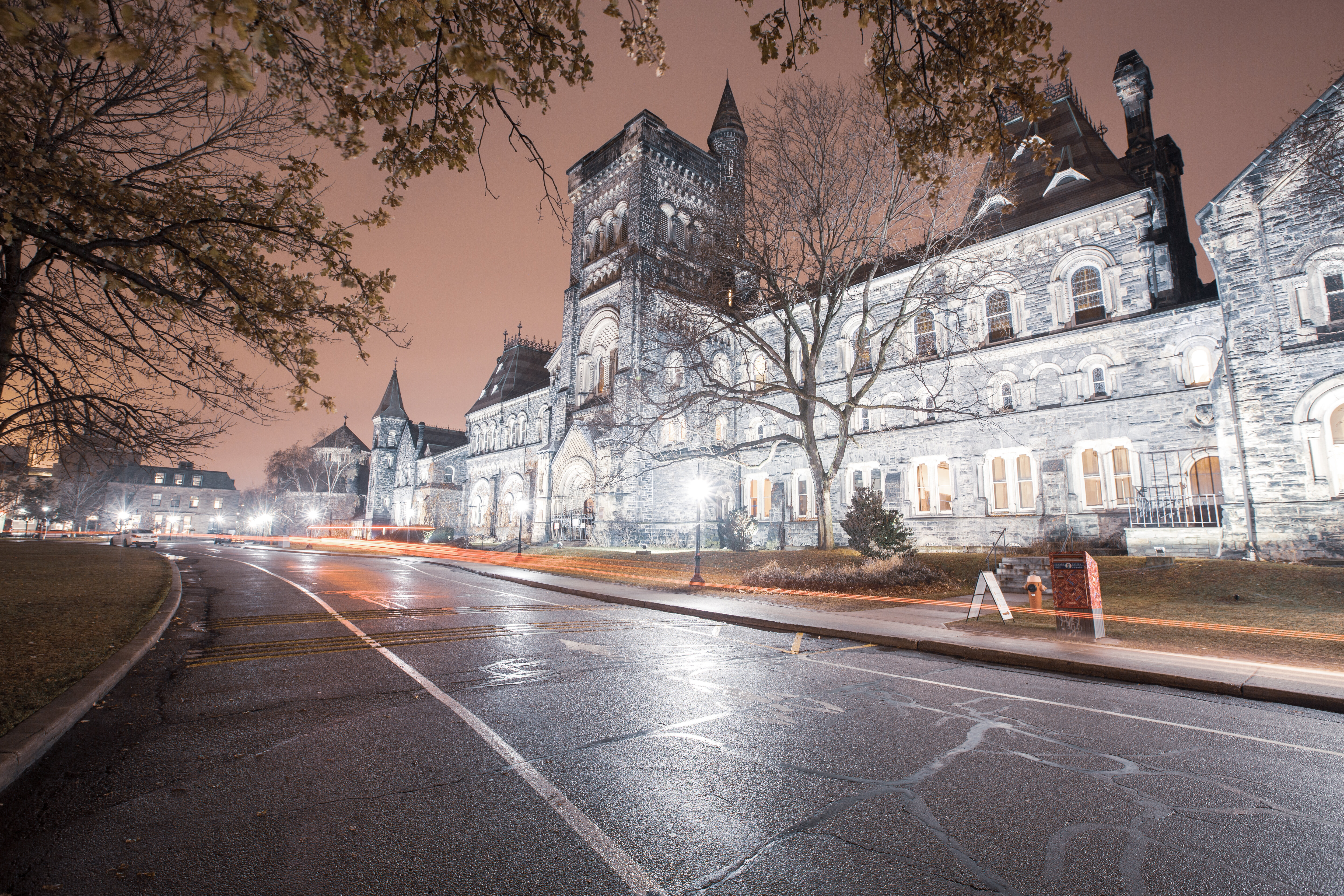 The St. George Campus of the top tier University of Toronto. Canada has a much more streamlined approach to college admission