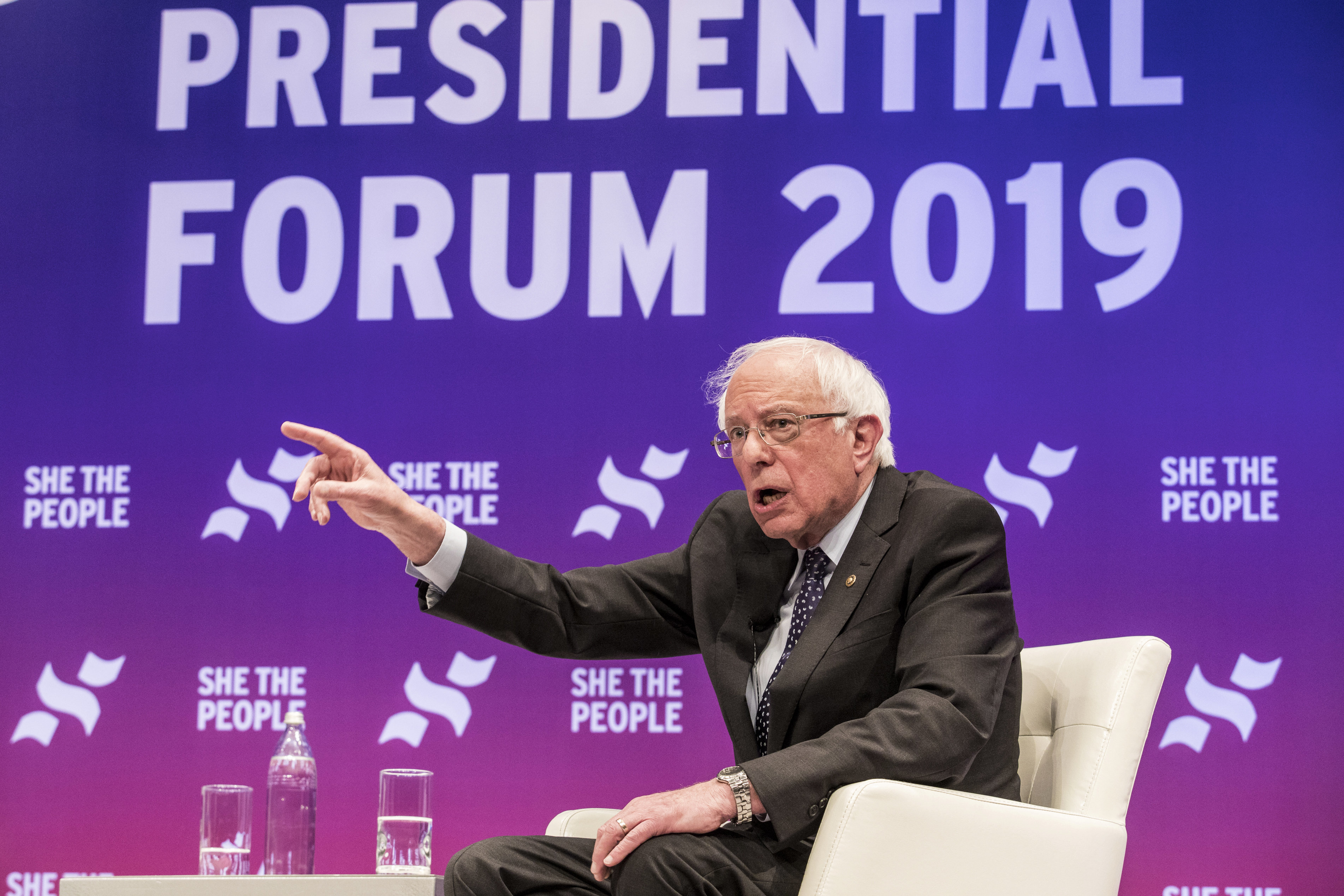 Sen. Bernie Sanders appears to be the first candidate seeking the nomination of a major party to endorse the idea that people