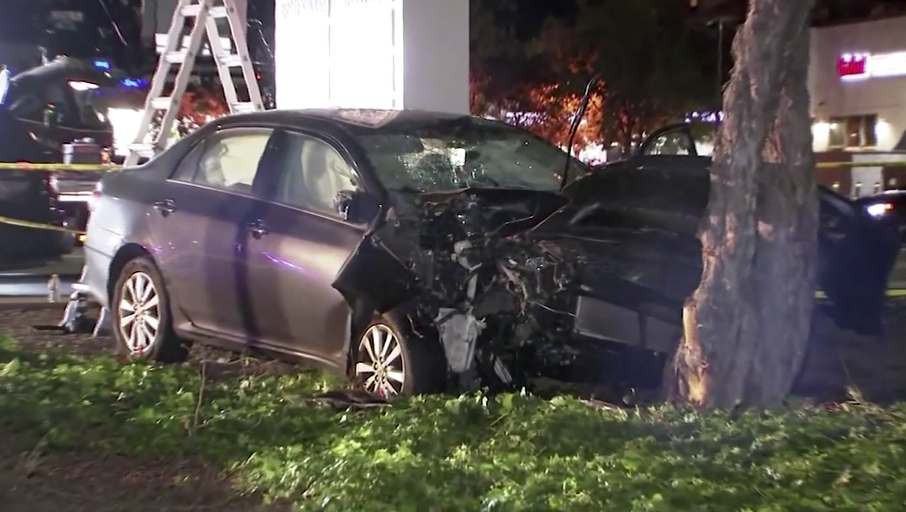 A driver rammed into eight pedestrians Tuesday at an intersection in Sunnyvale, California.
