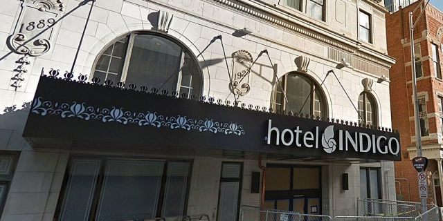 Hotel Indigo on Union Street in downtown Nashville where the incident occured.
