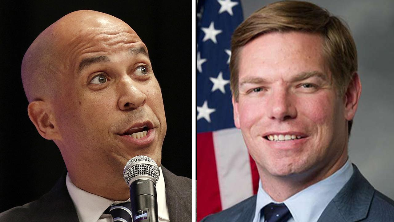 Cory Booker and Eric Swalwell pledge to pick women running mates if they win the 2020 Democratic nomination