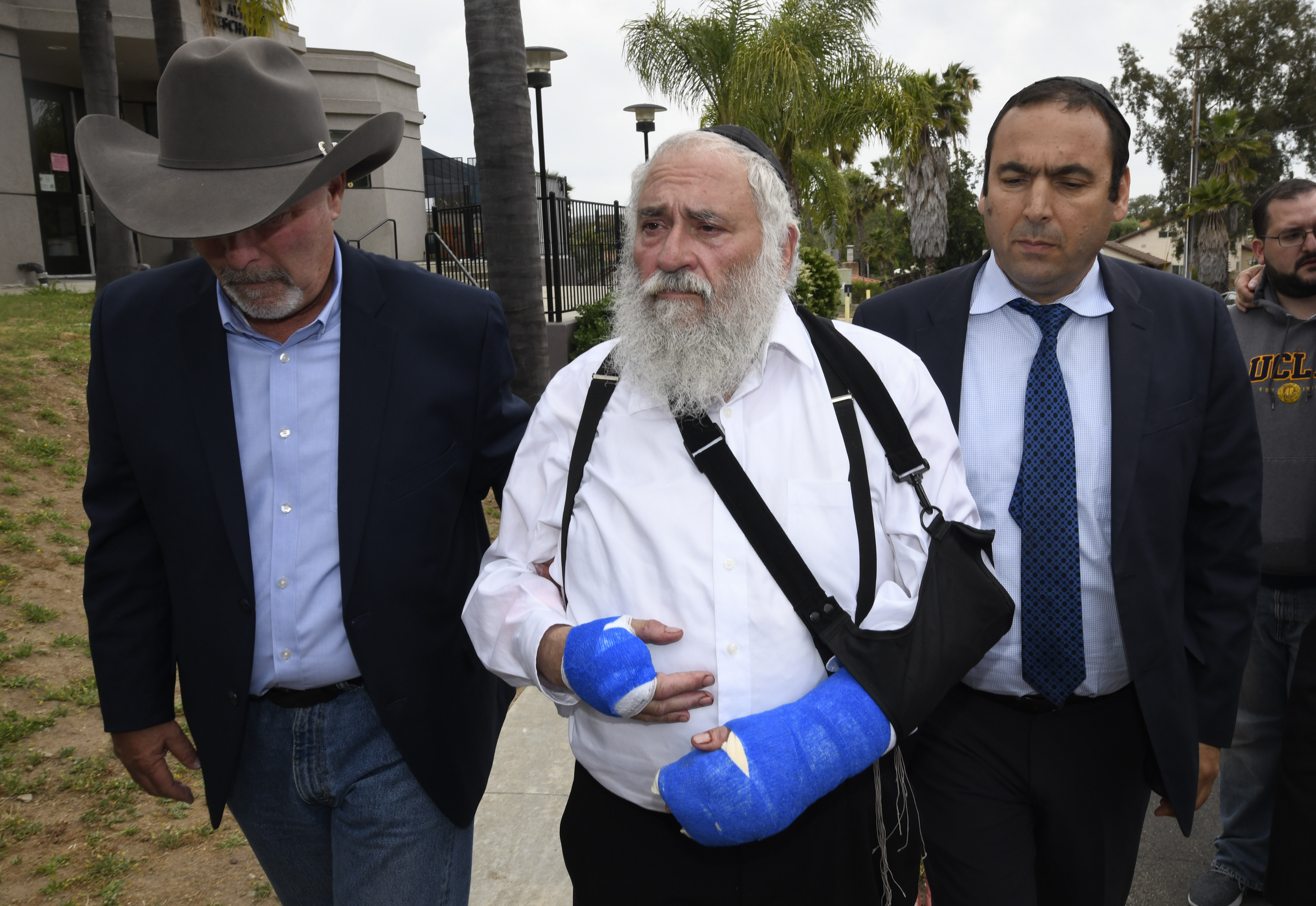 Rabbi Yisroel Goldstein said he asked a Border Patrol agent to carry his firearm with him while attending services, reasoning