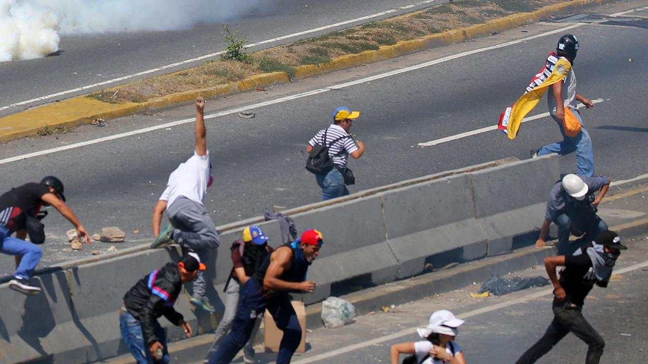 Supporters of the Venezuelan opposition take to the streets in Caracas