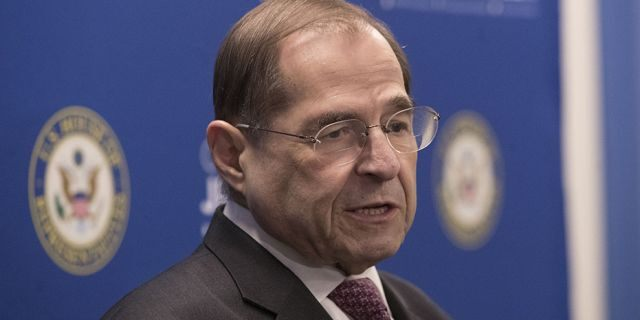 U.S. Rep. Jerrold Nadler, D-N.Y., chair of the House Judiciary Committee, speaks during a news conference on April 18 in New York.