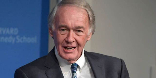 Feb. 8: Massachusetts Sen. Ed Markey speaks at The Institute of Politics at Harvard Kennedy School in Cambridge, Massachusetts. (Photo by Paul Marotta/Getty Images)