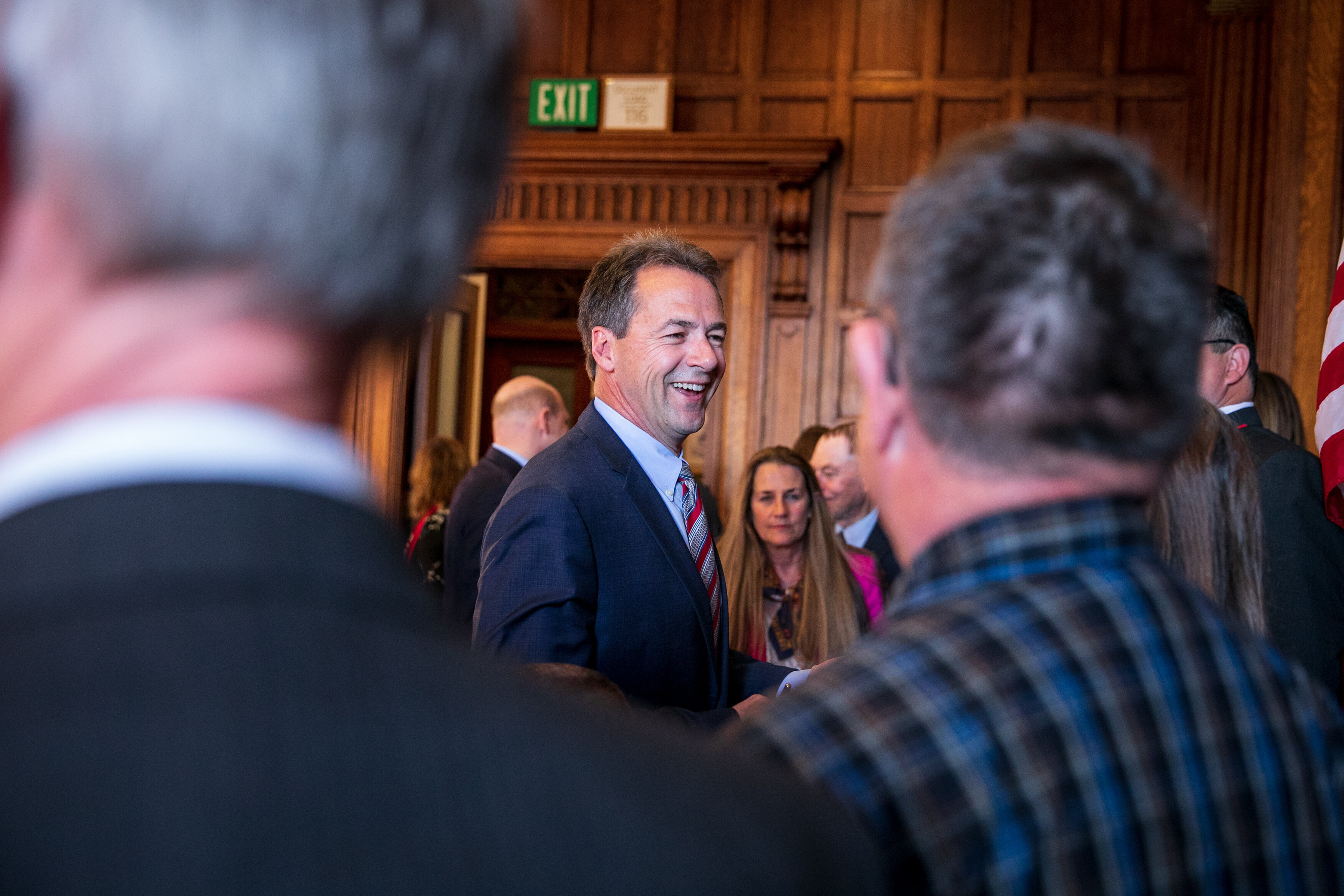 Montana Gov. Steve Bullock after signing several bills into law earlier this month in Helena.