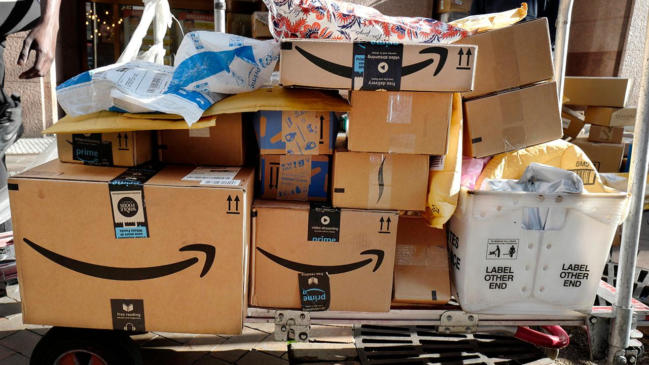 Fox Business Briefs: Amazon has reportedly added robot technology to a handful of warehouses to scan goods coming down a conveyor belt and putting them in boxes; new survey from Charles Schwab finds almost two thirds of Millennials say they are living paycheck to paycheck.