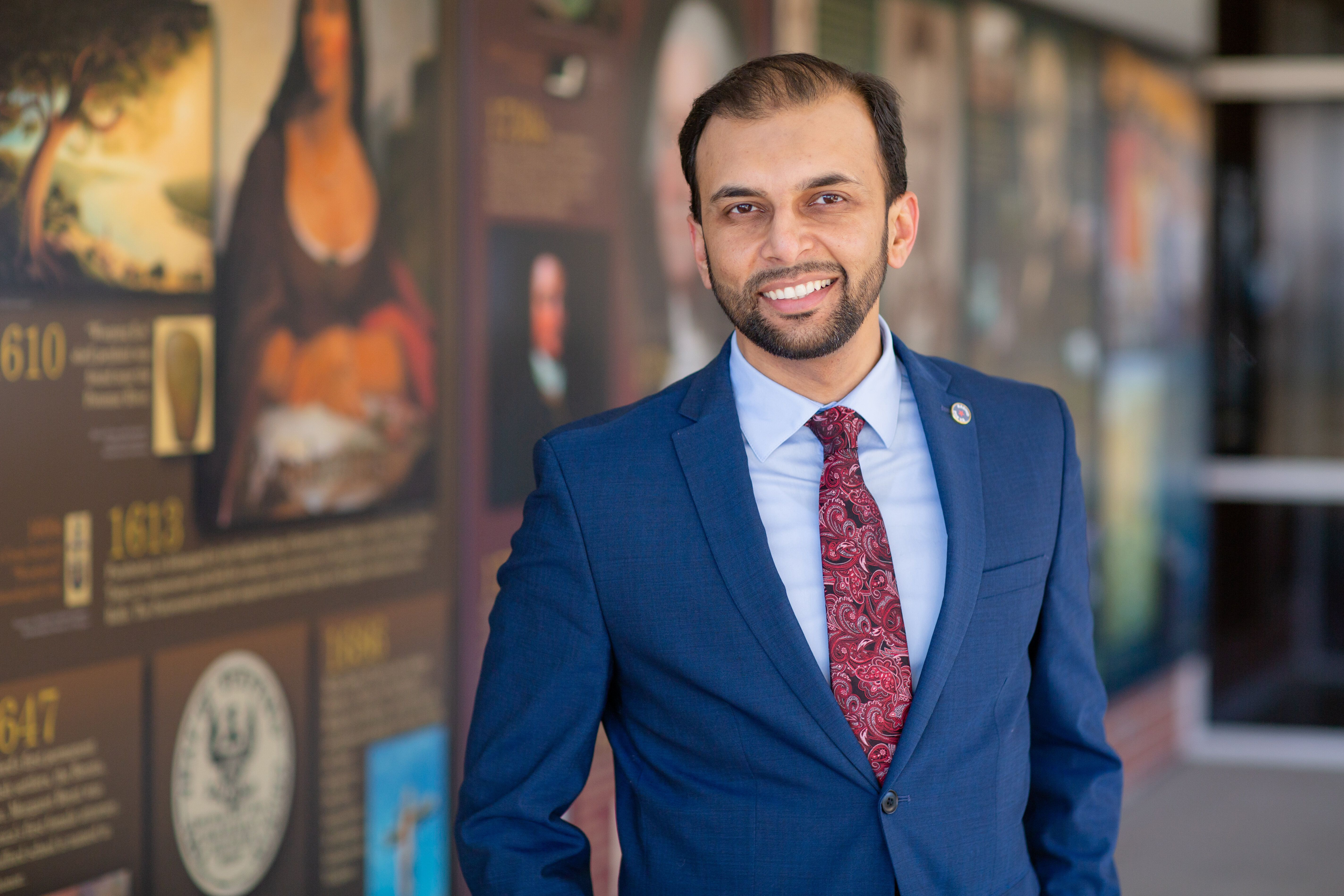 "Qasim Rashid, a Virginia state Senate candidate, said the attacks don't deter him from running for office. ""In fact, [they] e"