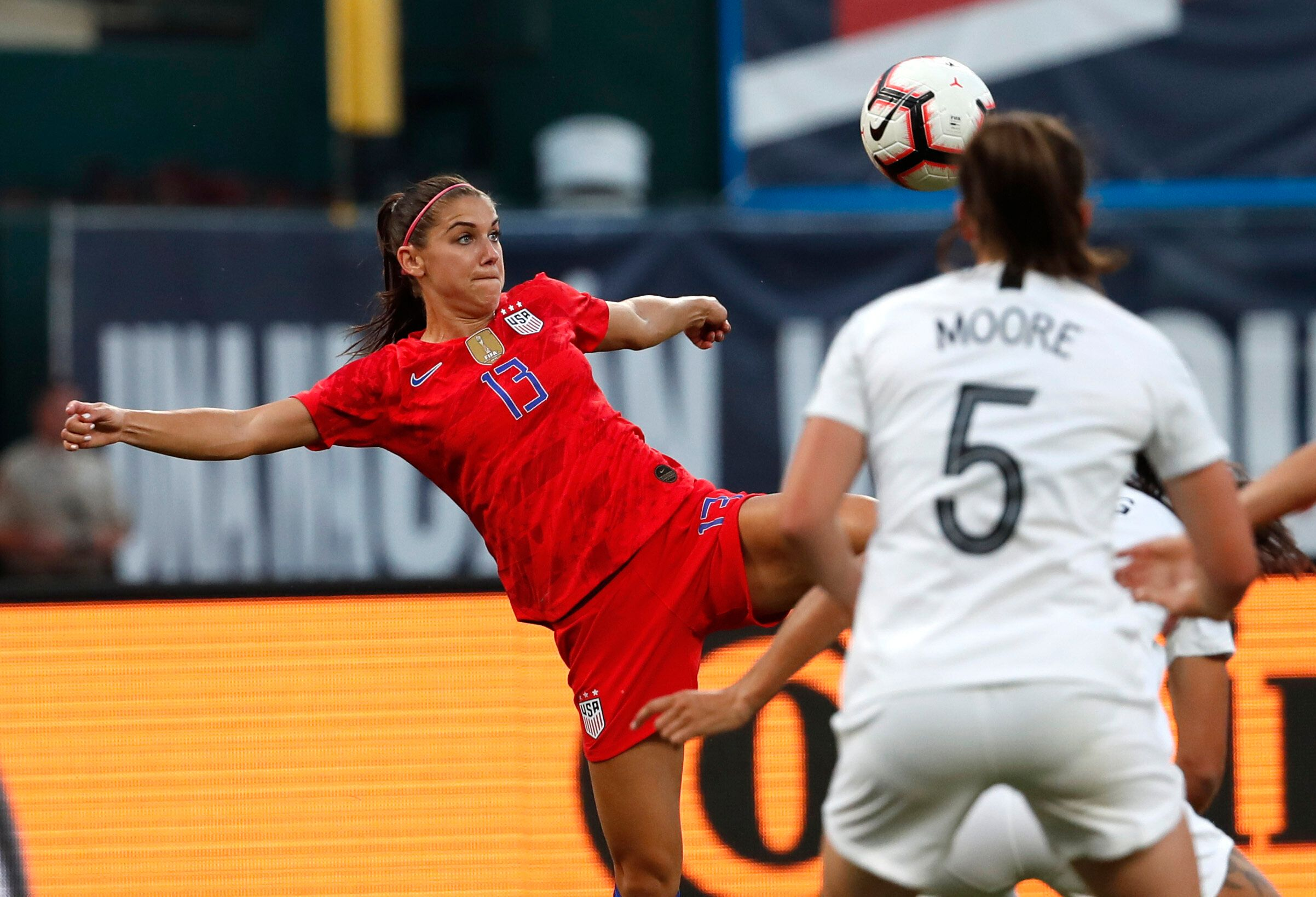 Alex Morgan (13) leads a talented U.S. attacking line that could carry the Americans to their fourth World Cup title.