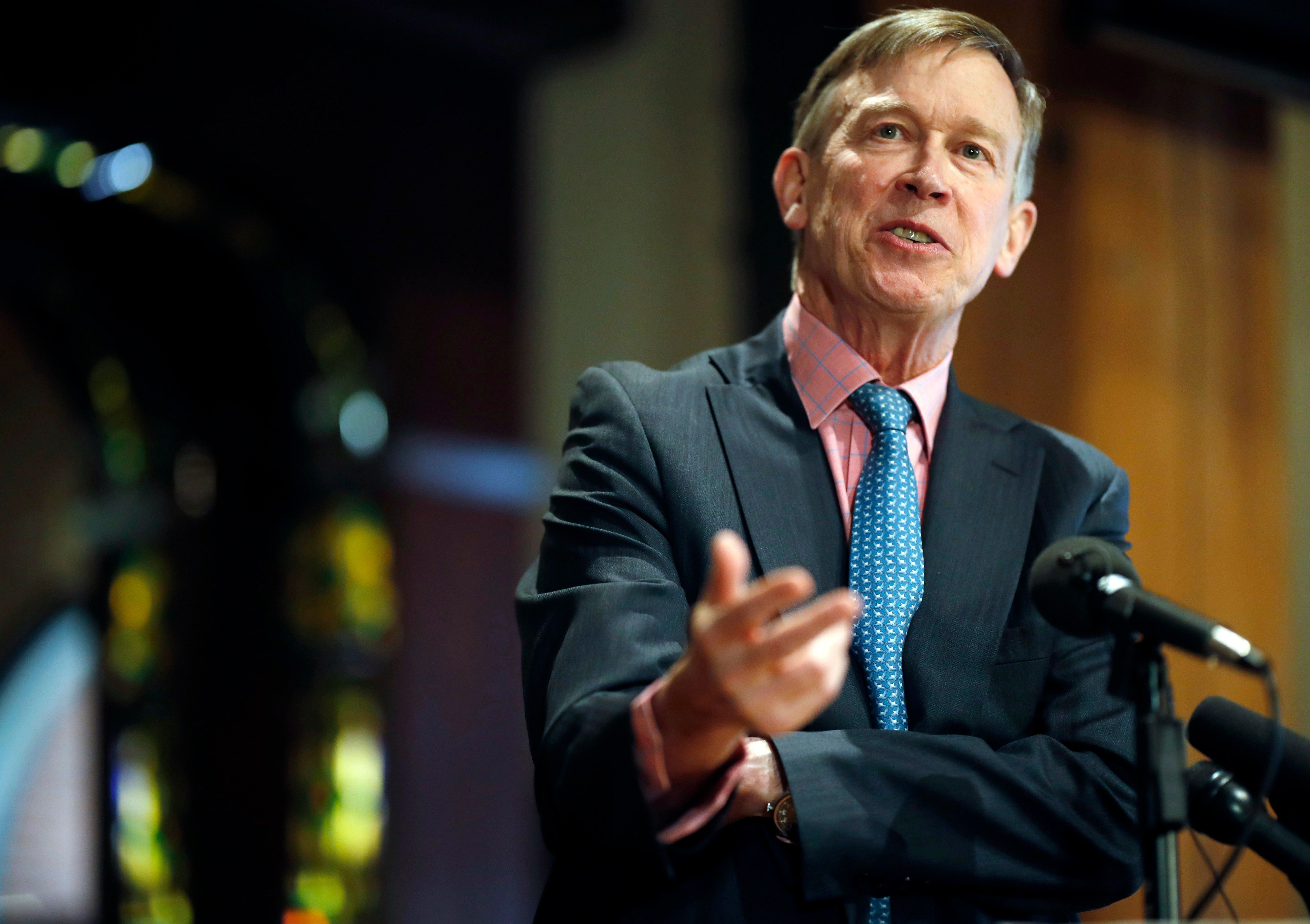 """John Hickenlooper, the former governor of Colorado, calls himself an """"extreme moderate."""""""