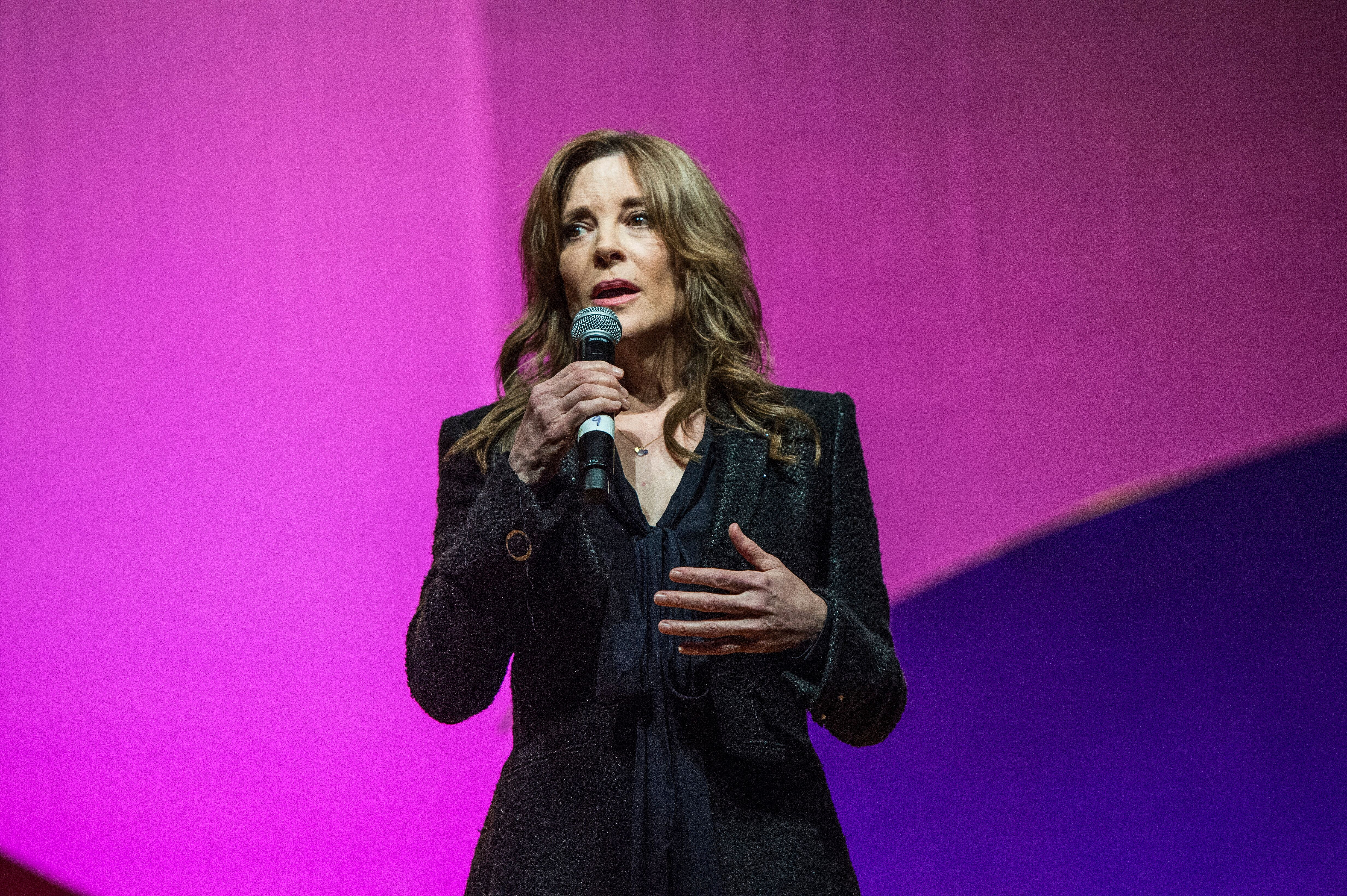 """Marianne Williamson has pledged to """"forge a new, whole-person, heart-centered political dynamic."""""""