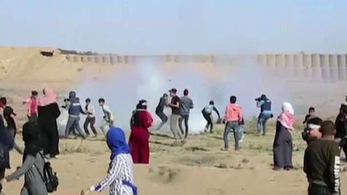 Multiple protesters injured by tear gas inhalation on Israel-Gaza border