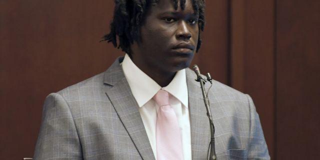 Emanuel Kidega Samson testifies in his own defense at his trial last week. (Shelley Mays/The Tennessean via AP, Pool)