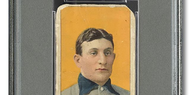 This image provided by SCP Auctions shows a 1909-11 T206 Honus Wagner baseball card. On Tuesday, May 28, 2019, SCP Auctions said that the card was sold privately for $1.2 million. (Courtesy of SCP Auctions via AP)