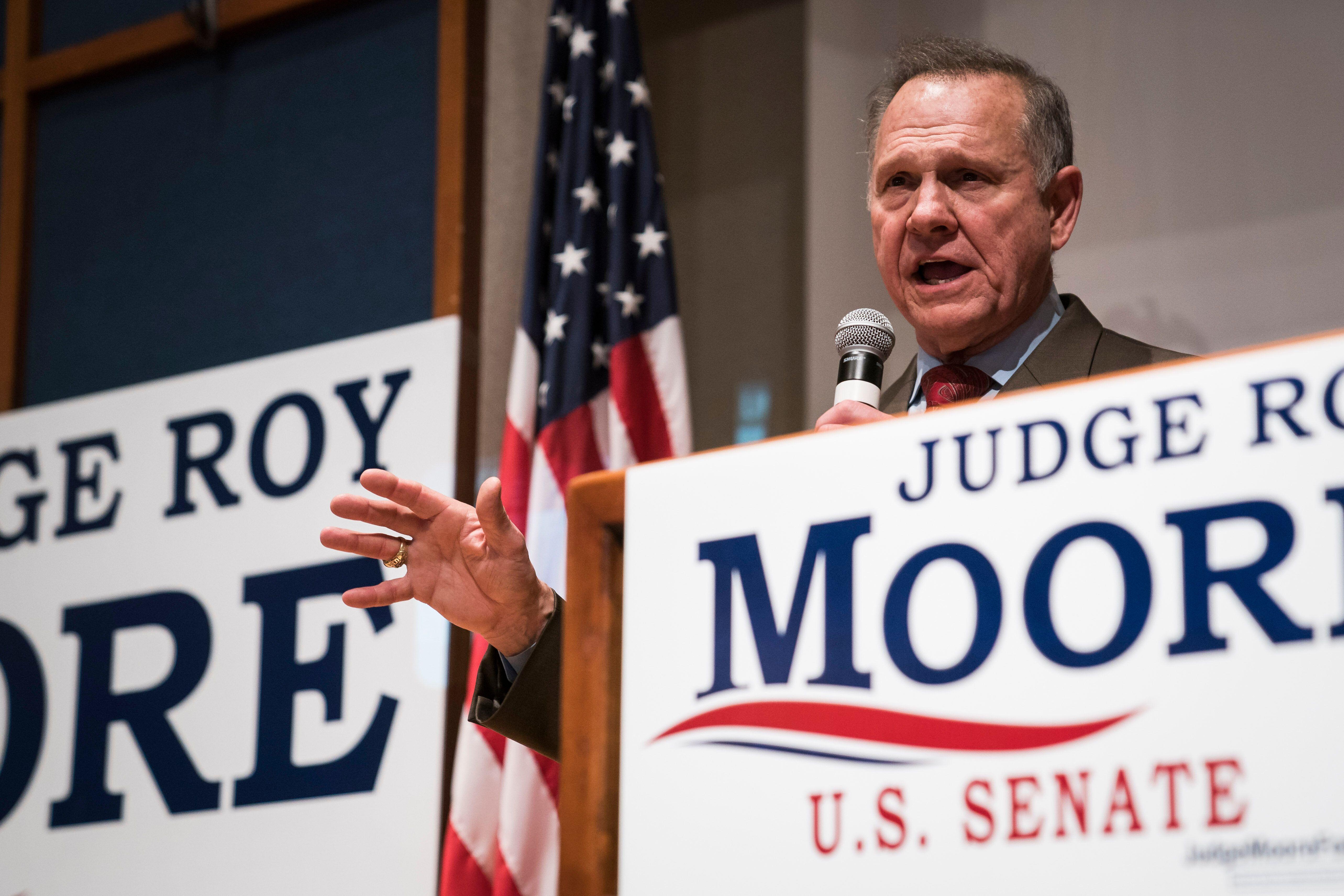 Former Alabama judge Roy Moore.