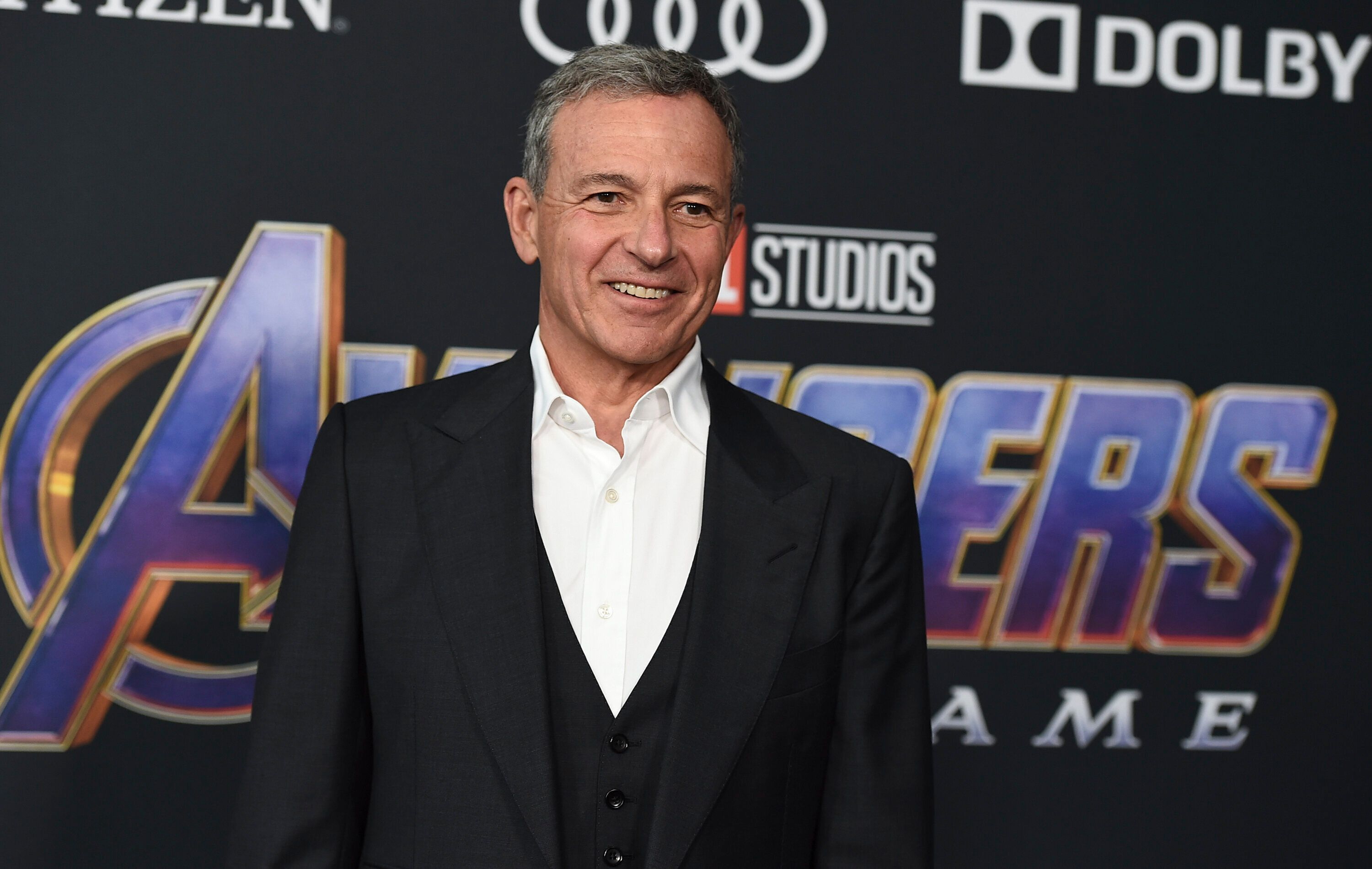 "Disney CEO Bob Iger arrives at the premiere of ""Avengers: Endgame"" at the Los Angeles Convention Center on April 22, 2019."