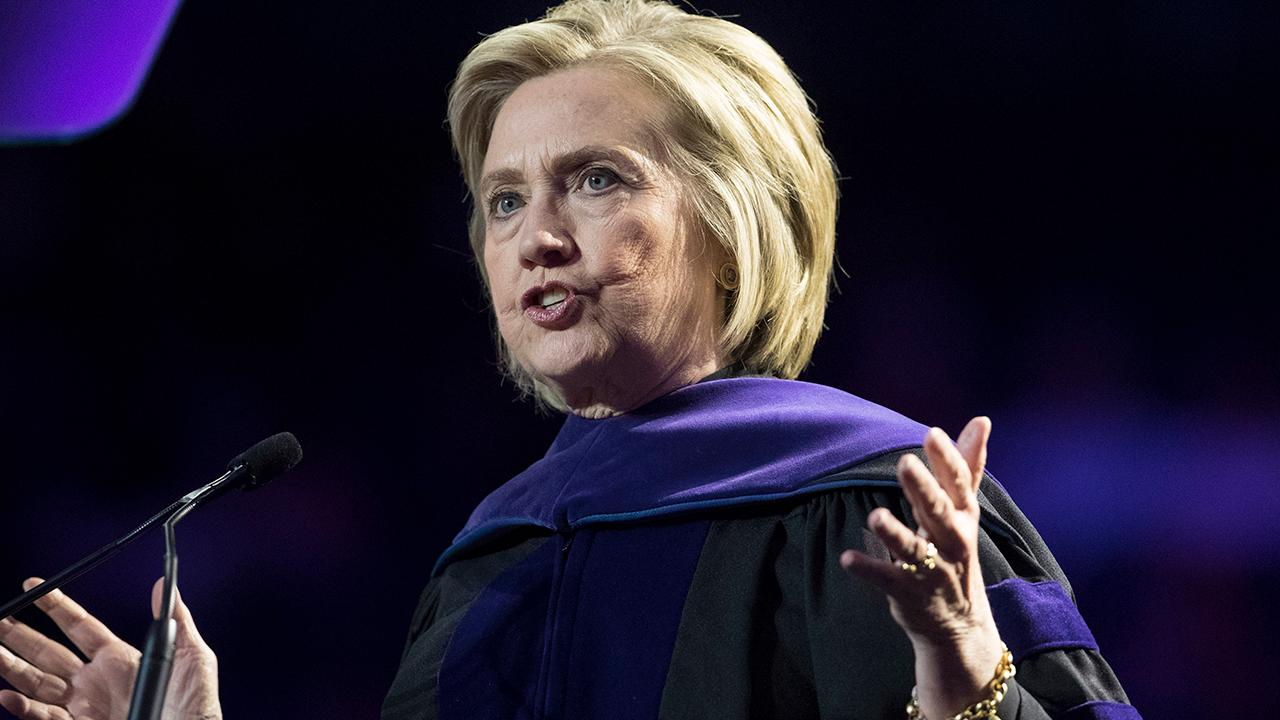 Hillary Clinton uses commencement speech to bash President Trump