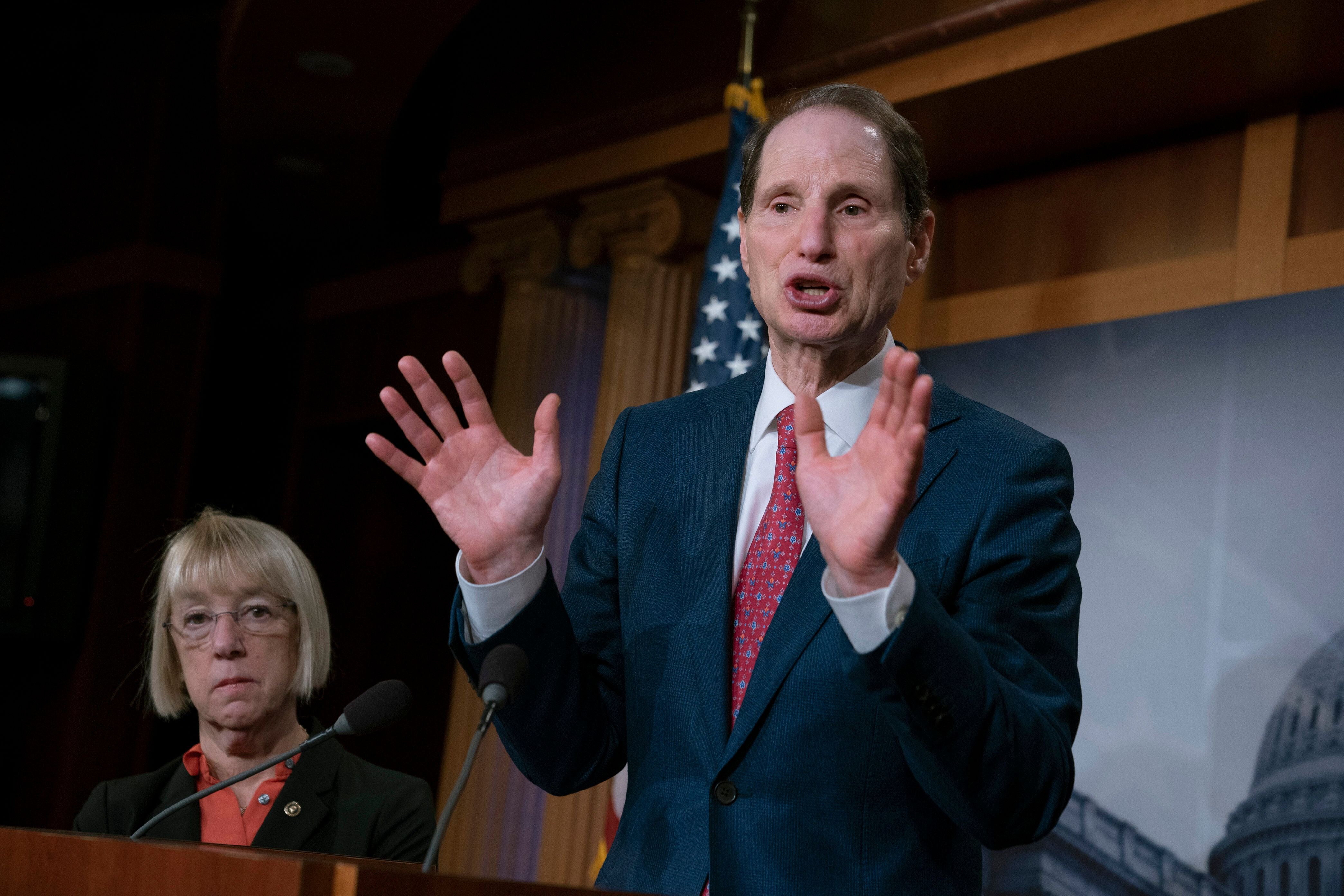Sen. Ron Wyden, the top Democrat on the Senate Finance Committee, is threatening to hold up Donald Trump's Treasury nominees