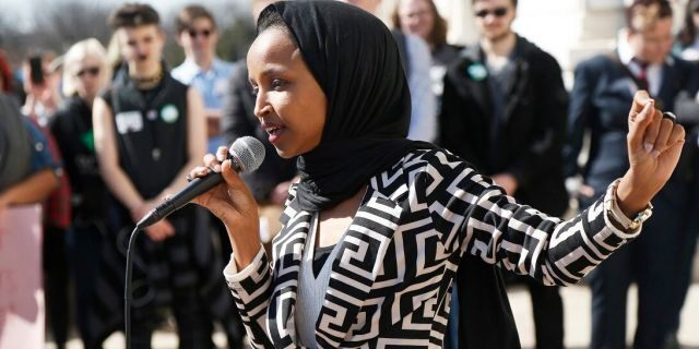 U.S. Rep Ilhan Omar, D-Minn., was condemned repeatedly by both parties this year for remarks perceived as anti-Semitic. (AP Photo/Jim Mone)