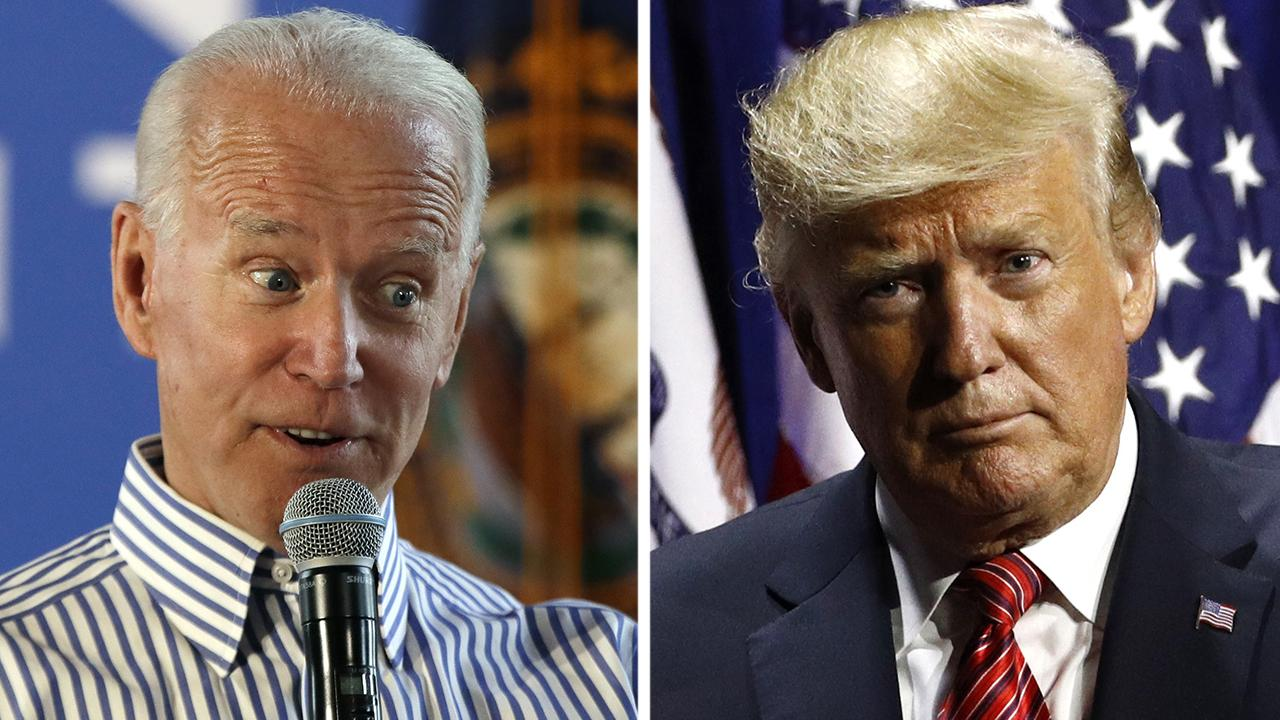 Trump and Biden exchange jabs while campaigning in Iowa