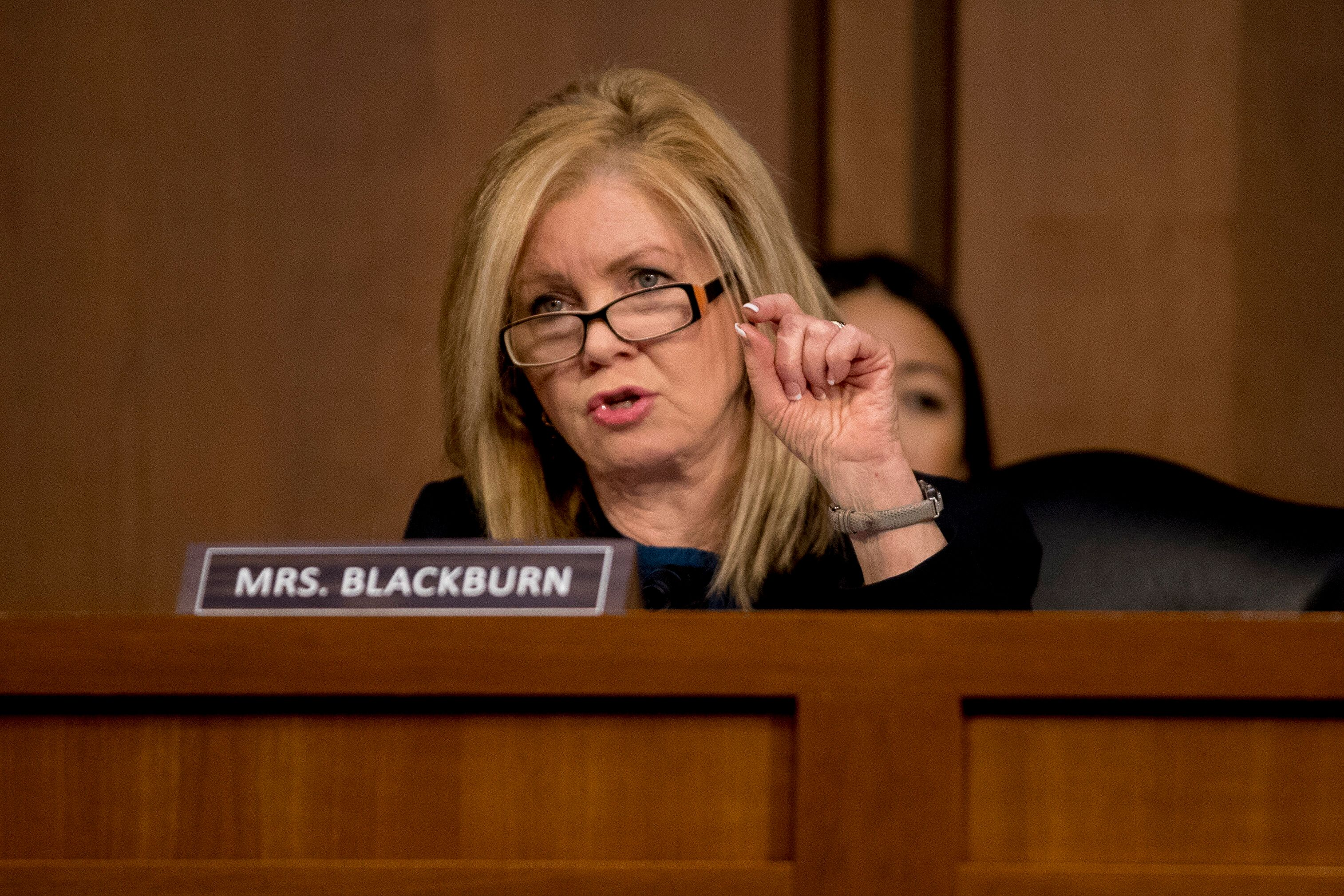 Sen. Marsha Blackburn objected to legislation that would require campaigns to report offers of foreign government assistance