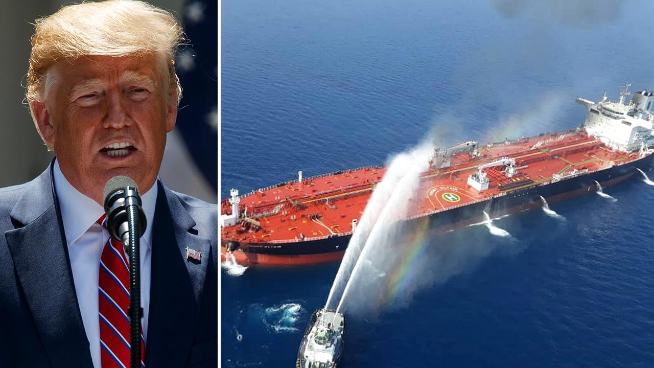 Trump says oil tanker attack has Iran 'written all over it'