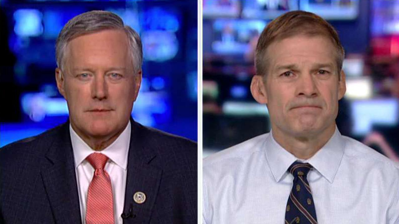 Meadows and Jordan say they have confidence in Barr finding the truth behind investigation into Trump