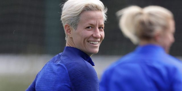 President Trump criticized Megan Rapinoe's decision to protest during the national anthem. (AP Photo/Kirsty Wigglesworth)