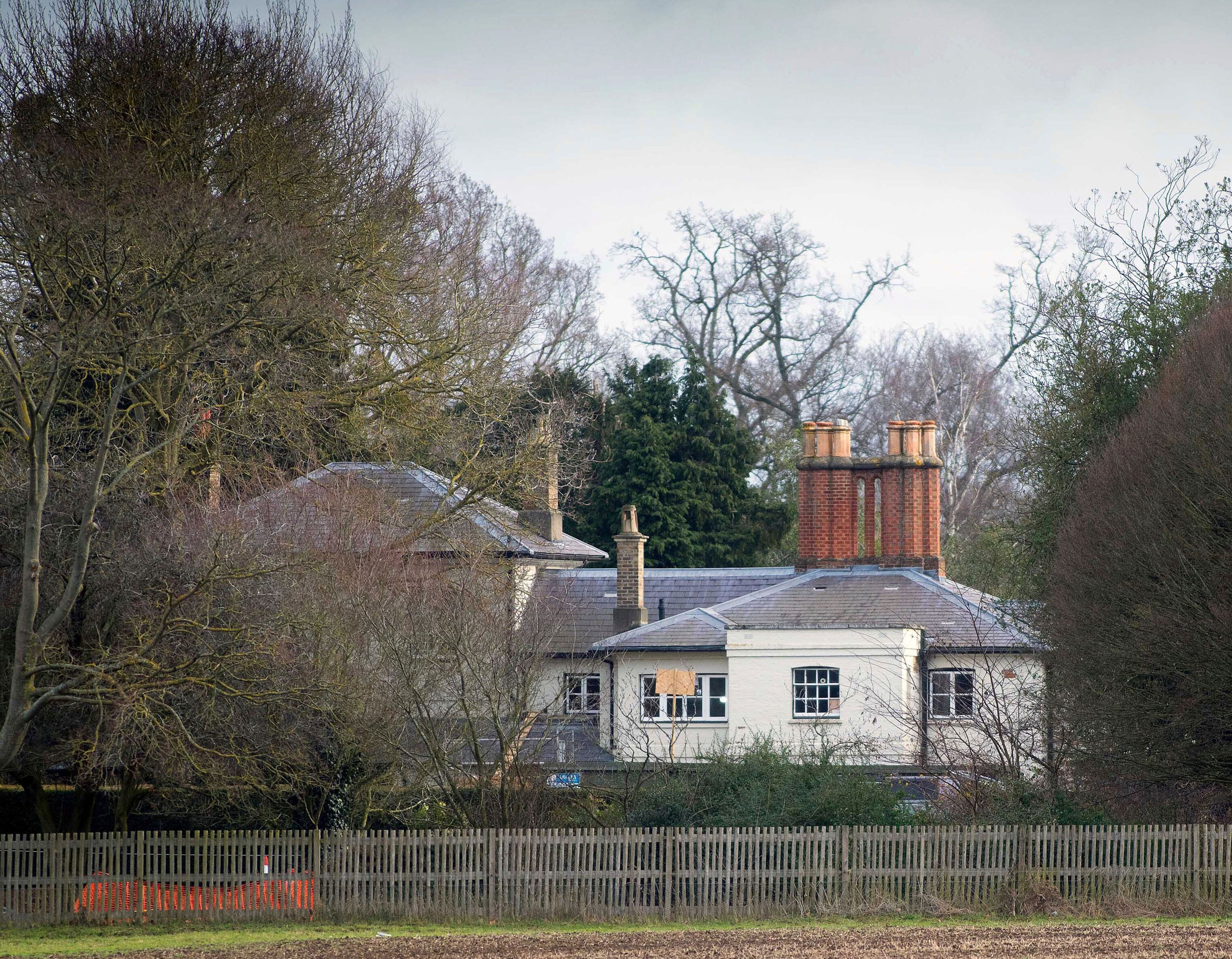 A shot of the recently renovated Frogmore Cottage.