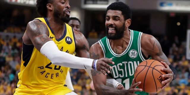The Nets appear to be the front runners to sign Kyrie Irving. (AP Photo/Michael Conroy)