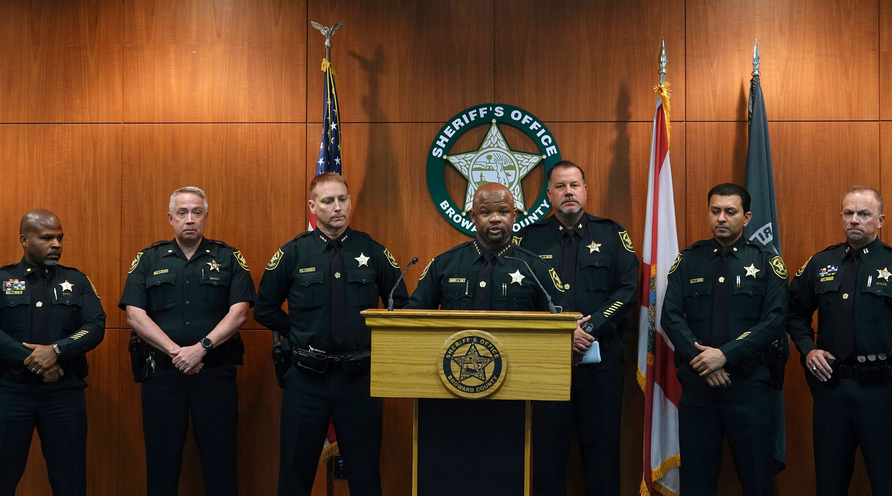 Broward Sheriff Gregory Tony announced Wednesday that two additional deputies have been fired over their response to the 2018