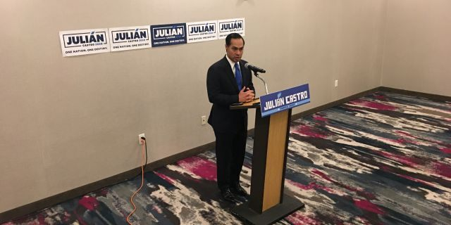 """I accomplished my goal for the debate,"" Democratic presidential candidate Julián Castro told reporters Thursday. (Alex Pappas/Fox News)."