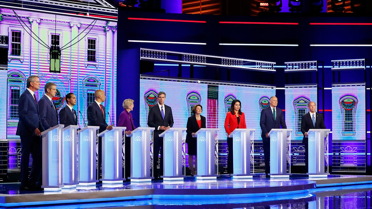 First Democratic presidential debate hit with technical difficulties, complaints of candidate bias