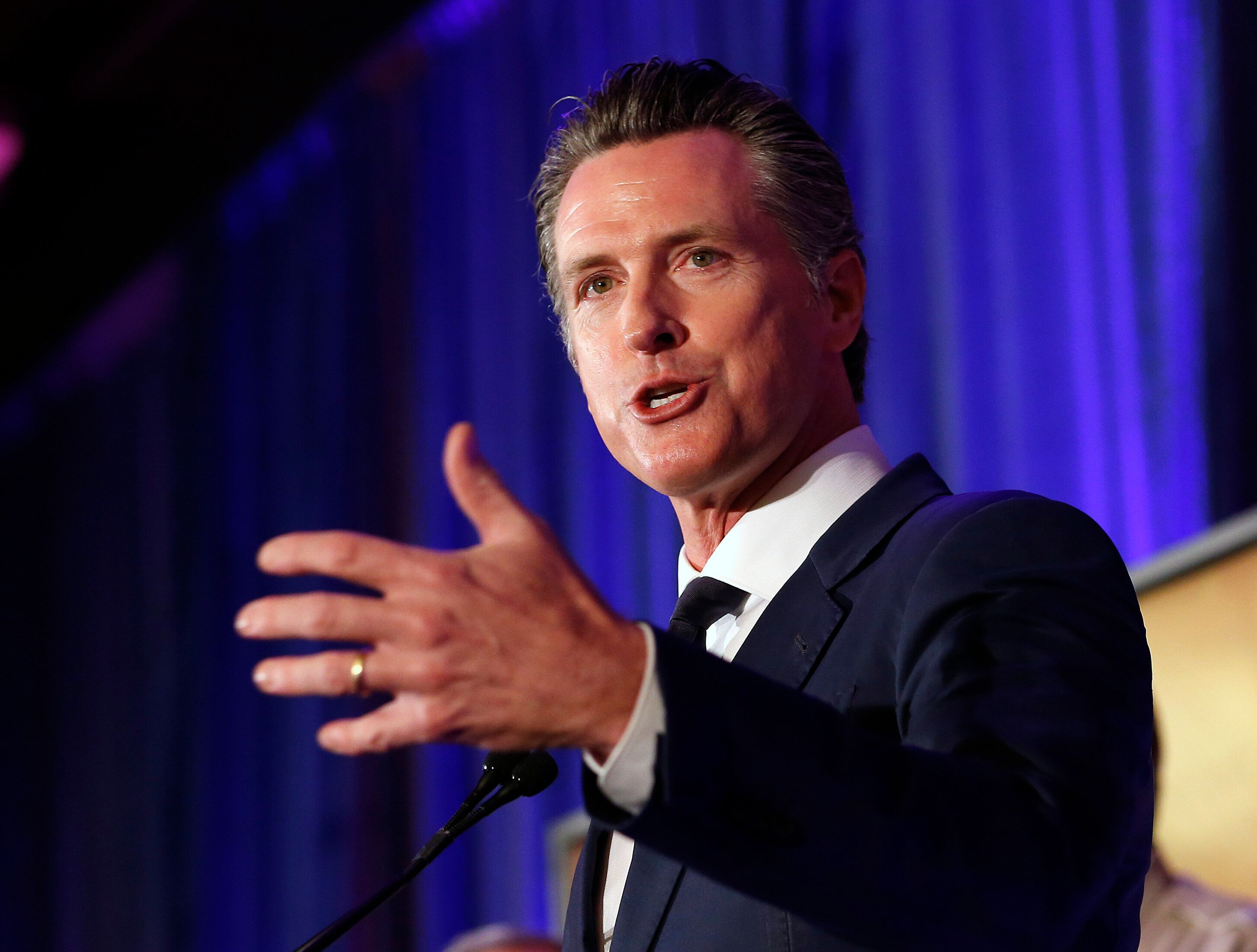 California Gov. Gavin Newsom said he looks forwarding to working with Canada to pursue clean air goals.
